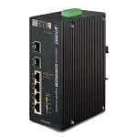 Planet IP30 6-Port Gigabit Switch with 4-Port 802.3AT POE+ plus 2-port 100/1000X SFP (-40 to 75ºC)