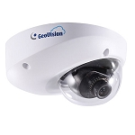 GeoVision 1MP Indoor Mini Fixed Dome for Cloud, 2.8mm Fixed Lens, Cloud Storage, YouTube Live Streaming, Two-Way Audio, Alarm, Motion Detection, MicroSD, Defog, DNR, WDR, DC 5V / PoE