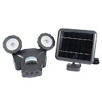Solar Outdoor 500 Lumen LED Motion Activated Security Light with Bluetooth Smart Control - Black or White - 1 Year Warranty