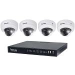 Vivotek Indoor/Outdoor Dome Bundle Kit - 2 x 2MP Outdoor 2.8mm Vandal IR Dome Cameras, 2 x Indoor 2.8mm IR Dome Cameras, 1 x 8ch Plug n Play NVR w/ PoE, 2TB Hard Drive - 2 Year Warranty