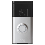 Ring Video Doorbell, 720P Resolution, Motion Detection, Two-Way Audio, Night Vision, Cloud Video Recording - 1 Year Warranty