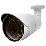 CCTV Gold 1080P 4-In-1 (AHD/HD-CVI/HD-TVI/Analog) Outdoor Bullet Camera, 2.8~12mm Motorized Varifocal Lens, IR LEDs, AGC, AWB, BLC, HLC, OSD, WDR, IP66 - 2 Year Warranty